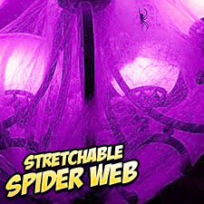 Non-Flammable Stretchable Spider Webs