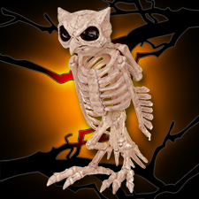 Crazy Bonez Skeleton Owl