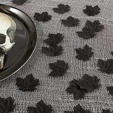 Boneyard Black Leaves Fabric