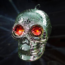 Skull Disco Ball - Halloween Decorations