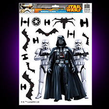 Star Wars Window Clings Darth Vader and Storm Troopers