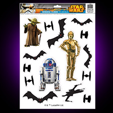 Star Wars Window Clings Yoda - C-3PO and R2-D2