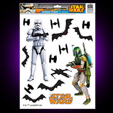 Star Wars Window Clings Storm trooper and Boba Fett