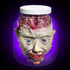 Head in Laboratory Jar - Halloween Decorations