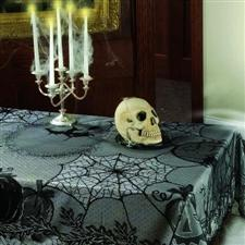 Midnight Lace Tablecloth - Halloween Decorations