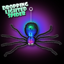 Dropping Lighted Spider
