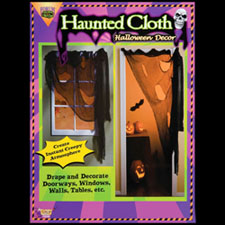 Black Haunted Cloth - Halloween Decorations