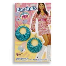 Glitter Mod Earrings - Turquoise