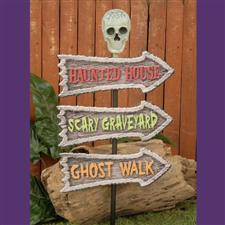 Crossroads Sign - Halloween Decorations