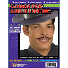 Gangster Moustache - Grey