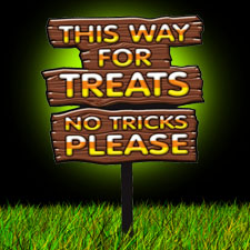 This Way For Treats Sign