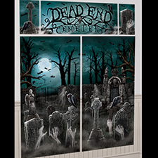 Cemetery Scene Setters Wall Decorating Kit