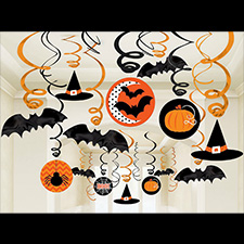 Halloween Value Pack Swirl Room Decorations