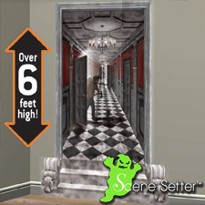 Scene Setters Gothic Mansion Long Hallway