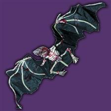 Skeletal Bloody Hanging Bat - Halloween Decorations