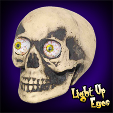 Skull with Light Up Eyes