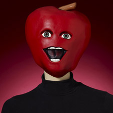 Midget Apple Latex Mask