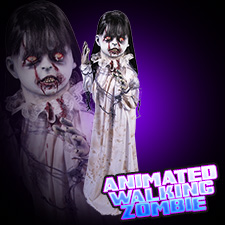 Animated Walking Zombie Girl