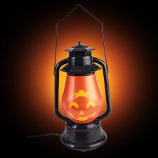 Hidden Pumpkin Face Lantern Motion Activated