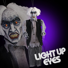 Light Up Grumpy Zombie Hanging Prop