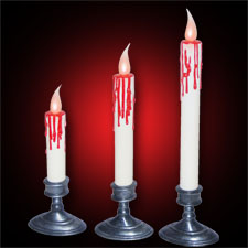 White Blood Dripping Candles (set of 3)