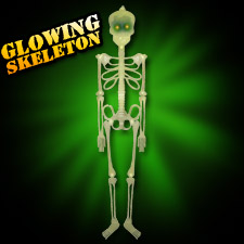 "36"" GLow in the Dark Skeleton - Flashing Eyes"