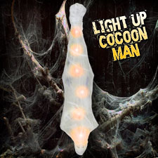 Light Up Hanging Cocoon Man