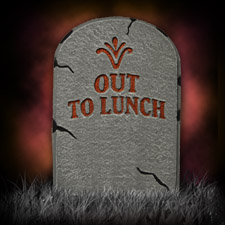 "21"" Glitter Tombstone - Out to Lunch"