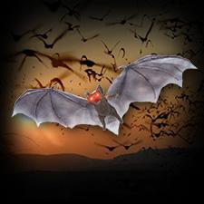 Brown Light Up Bat