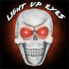 Giant Hanging Skull Plaque - Lights Up