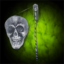 Skull Stick - Gray Face