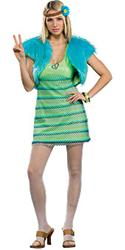 60'S GIRL LIME - Halloween Costumes