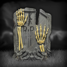 "21"" Tombstone - Clawing Skeleton Hands"
