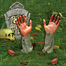 Zombie Grave Breaker Arm Props - Bloody Hands