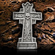 Cross Tombstone - R.I.P Skull