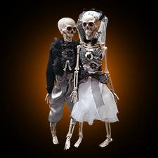 """16"""" Skeleton Couple"""