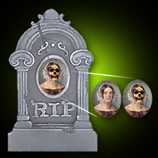 """15"""" Lenticular Tombstone - Woman"""