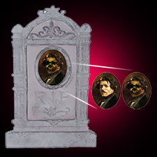 "15"" Lenticular Tombstone - Man"