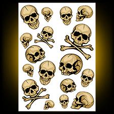 Color Wall Art Skulls