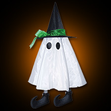 """24"""" Hanging Ghost w/Hat"""