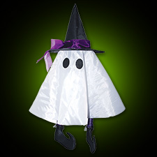 "24"" Hanging Ghost w/Hat"