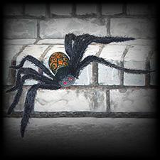 Glitter Spider Orange