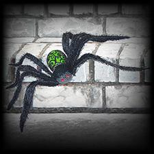 Glitter Spider Green