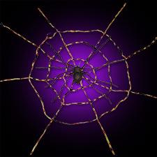 Spiderweb w/Spider - Black/Orange
