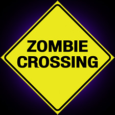 Metal Sign - Zombie Crossing