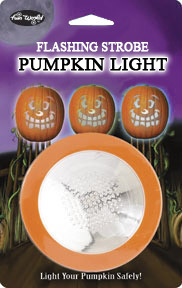 Flashing strobe pumpkin light.