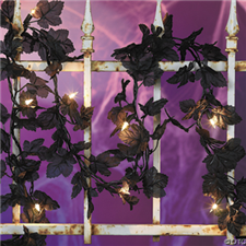 Halloween Black Leaves Light Set - Halloween Decorations