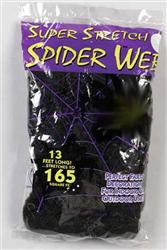 Super Stretch Spider Webs - Black