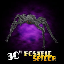 "30"" Hairy Spider - Grey"