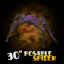 "30"" Hairy Spider - Purple"